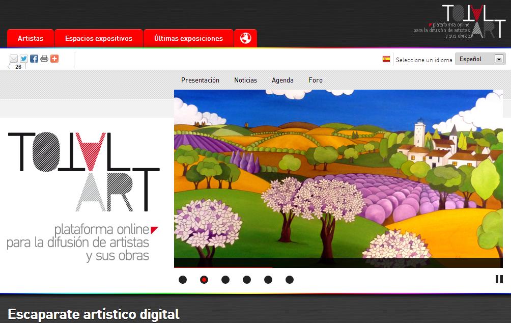 Imagen de la web del proyecto TotalART