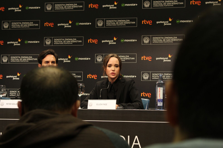 Ellen Page, una de las estrellas de Hollywood que pasó por San Sebastián